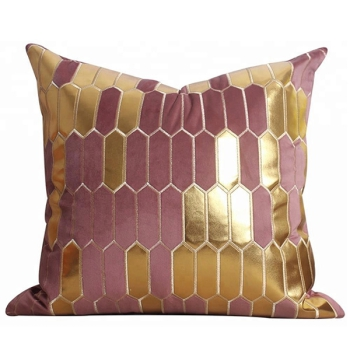 Soft golden geometry pillow modern beautiful design, luxury pillow - Lederna fortnite