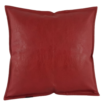 Kissen luxus leder einzigartiges modern design rouge bordeaux - Lederna love