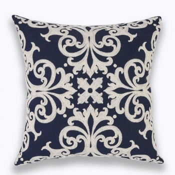 Pillow cover with filling - Blue Queen - home decor Emboridered