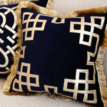 Luxury decorative pillows with embroidered patterns | Geometrix design 2