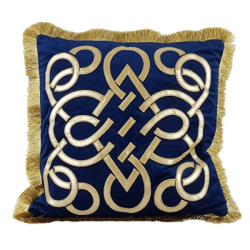 Luxury decorative pillows with embroidered patterns - Geometrix design